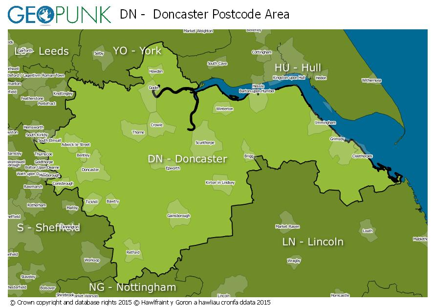 DN Doncaster Postcode Area