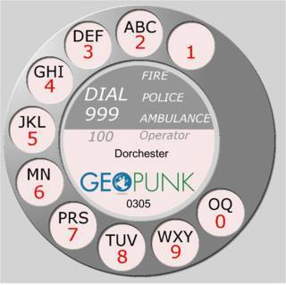 picture showing an old rotary dial for the 01305 Dorchester area code