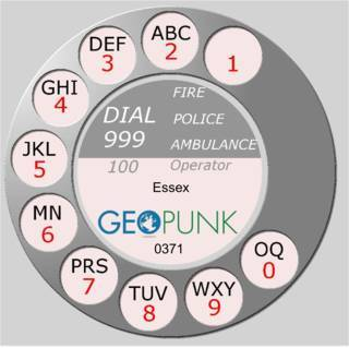 picture showing an old rotary dial for the 01371 Great Dunmow area code