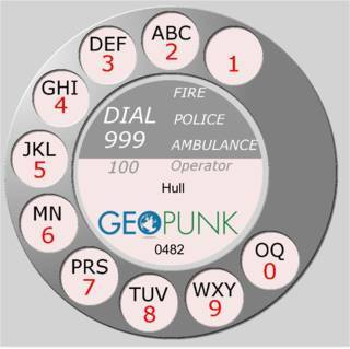 picture showing an old rotary dial for the 01482 Hull area code